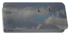 Flying Swans Through The Storm Portable Battery Charger