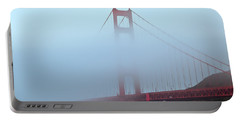 Portable Battery Charger featuring the photograph Fog And The Golden Gate by Jonathan Nguyen