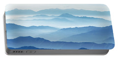 Fog Mountains Nagano Japan Portable Battery Charger