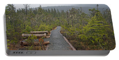 Fog On The Trail Portable Battery Charger by Cathy Mahnke