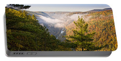 Fog Over The Canyon Portable Battery Charger