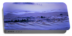 Fog Over The Sand Dunes At Dawn Portable Battery Charger