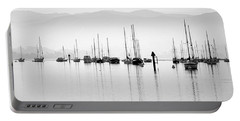 Fog Settles On Morro Bay Portable Battery Charger