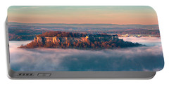 Fog Surrounding The Fortress Koenigstein Portable Battery Charger