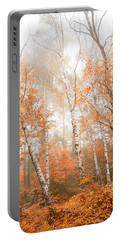 Foggy Autumn Aspens Portable Battery Charger by Eti Reid