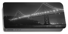 Foggy Bay Bridge Portable Battery Charger