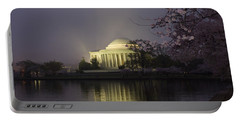 Foggy Morning At The Jefferson Memorial 1 Portable Battery Charger