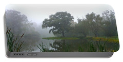 Foggy Morning At The Willows Portable Battery Charger