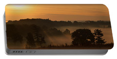 Foggy Morning At Valley Forge Portable Battery Charger