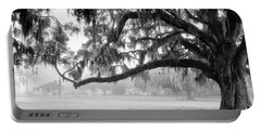 Foggy Morning On Coosaw Plantation Portable Battery Charger