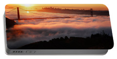 Foggy Morning San Francisco Portable Battery Charger by James Kirkikis