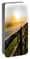 Foggy Morning Portable Battery Charger by Shelby  Young