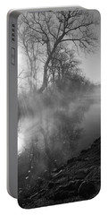 Foggy River Morning Sunrise Portable Battery Charger