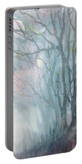 Foggy Trees Portable Battery Charger
