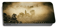 Portable Battery Charger featuring the photograph Foggy Tuscany by Silvia Ganora