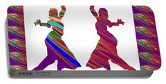 Folk Dance Sparkle Graphic Decorations Portable Battery Charger by Navin Joshi