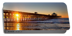 Folly Beach Pier At Sunrise Portable Battery Charger