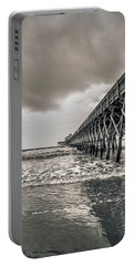 Portable Battery Charger featuring the photograph Folly Beach Pier by Sennie Pierson