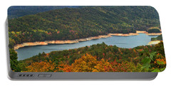 Fontana Lake In Fall Portable Battery Charger