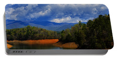 Fontana Lake Storm Portable Battery Charger by Chris Flees
