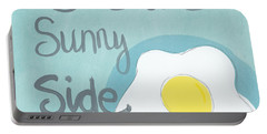 Food- Kitchen Art- Eggs- Sunny Side Up Portable Battery Charger by Linda Woods