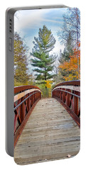 Foot Bridge In Fall Portable Battery Charger