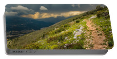 Foot Path Into The French Alps Portable Battery Charger