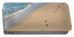 Footprints In The Sand Portable Battery Charger