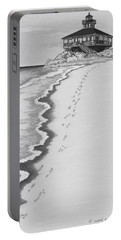 Portable Battery Charger featuring the digital art Footprints On Boca Beach by Carol Jacobs
