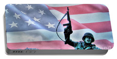 For Freedom Portable Battery Charger by Dan Stone