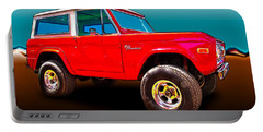 Ford Bronco Classic From Vivachas Hot Rod Art Portable Battery Charger