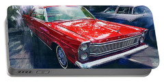 1965 Ford Galaxy 500xl In Red Portable Battery Charger
