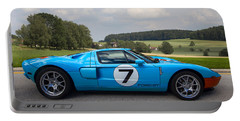 Ford Gt Portable Battery Charger by Debra and Dave Vanderlaan