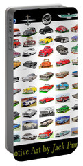 Four Decades Of Fords Poster Portable Battery Charger