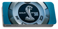 Ford Shelby Gt 500 Cobra Emblem Portable Battery Charger by Jill Reger