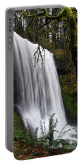 Forest Falls - Waterfall In The Silver Falls State Park In Oregon Portable Battery Charger