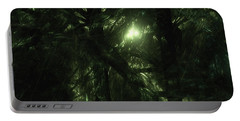 Portable Battery Charger featuring the digital art Forest Light by GJ Blackman