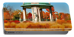 Portable Battery Charger featuring the photograph Forest Park Gazebo by Peggy Franz