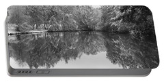 Forest Snow Portable Battery Charger by Miguel Winterpacht