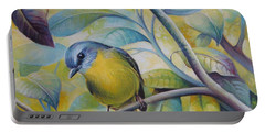 Portable Battery Charger featuring the painting Forest Song by Elena Oleniuc