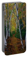 Birch Tree Forest Trail  Portable Battery Charger