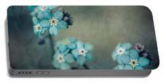 Forget Me Not 01 - S22dt06 Portable Battery Charger by Variance Collections