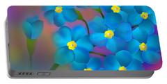 Forget- Me -not Flowers Portable Battery Charger