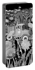 Portable Battery Charger featuring the drawing Forgotten by Carol Jacobs