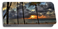 Fort Lauderdale Beach Florida - Sunrise Portable Battery Charger by Timothy Lowry
