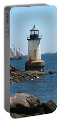 Portable Battery Charger featuring the photograph Fort Pickering Light by Denyse Duhaime