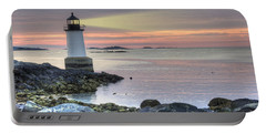 Fort Pickering Lighthouse At Sunrise Portable Battery Charger