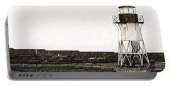 Fort Point Lighthouse Portable Battery Charger by Holly Blunkall