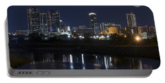 Fort Worth Skyline Super Moon Portable Battery Charger