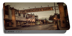 Fort Worth Stockyards Portable Battery Charger